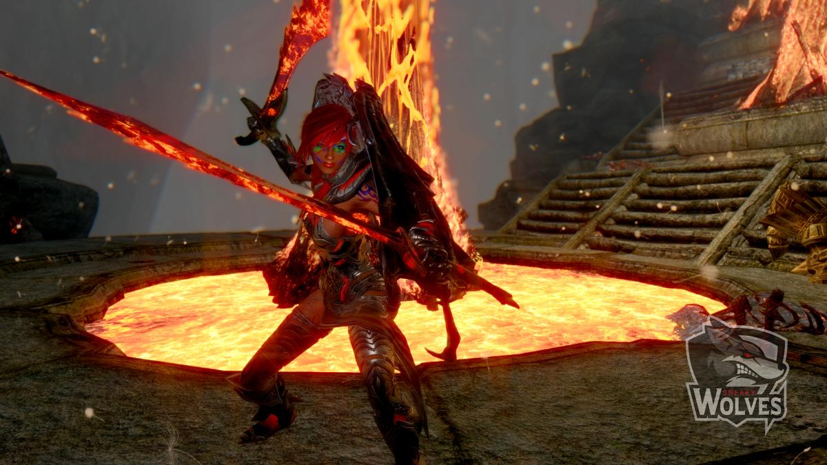 Skyrim Nalia - Lava Dungeon gezogene Schwerter