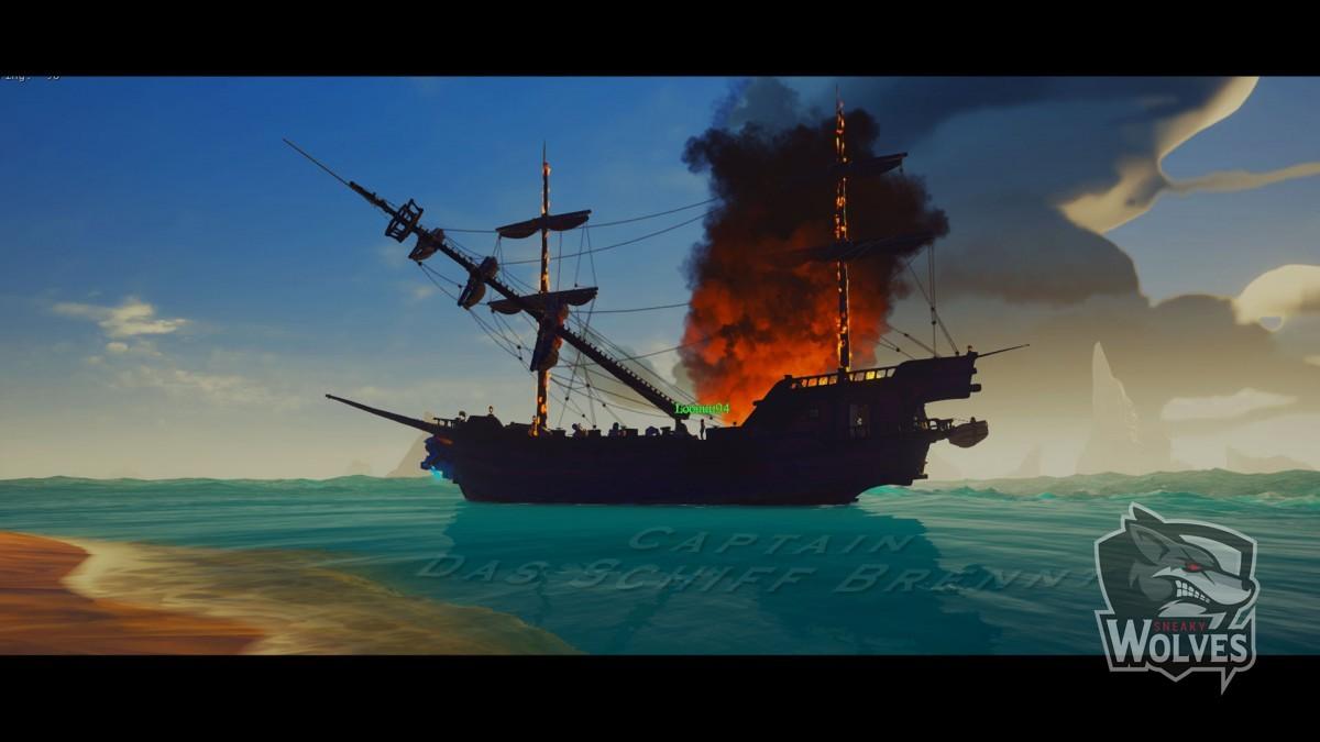 Cpt. Das Schiff brennt